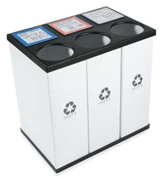 7. RecycleBoxBin Plastic Light Weight - Large Triple Recycling Bin
