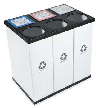 7. RecycleBoxBin Plastic Light Weight - Large Triple Recycling Bin