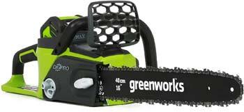 4. Greenworks G-MAX 40V 16-Inch Cordless Chainsaw