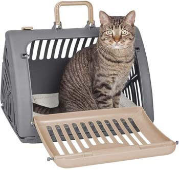 3. Sport Pet Foldable Travel Cat Carrier - Front Door Plastic Collapsible Carrier Collection