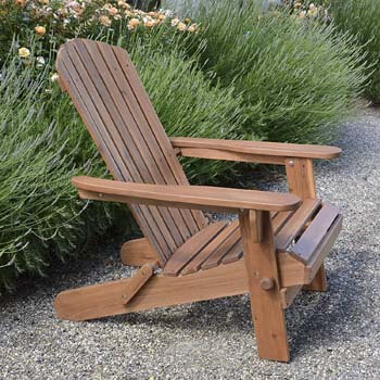 7. Plant Theatre Adirondack Folding Hardwood Chair