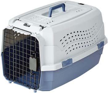 8. AmazonBasics Two-Door Top-Load Hard-Sided Pet Travel Carrier