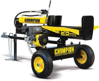 9. Champion 25-Ton Horizontal/Vertical Full Beam Gas Log Splitter with Auto Return: