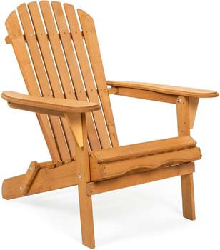 2. Best Choice Products Wooden Adirondack Chair