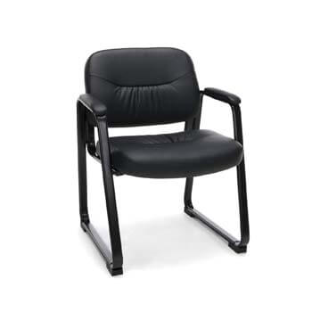 6. OFM Essentials Collection Bonded Leather Executive Side Chair