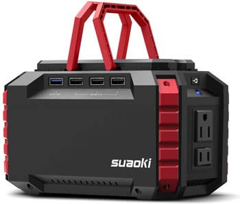 9. SUAOKI 150Wh Camping Generator Portable Power Station