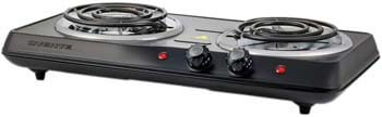 6. Ovente Double Hot Plate Electric Coil Stove