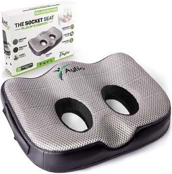 4. Aylio Socket Seat - Memory Foam Sit Bone Relief Cushion for Butt