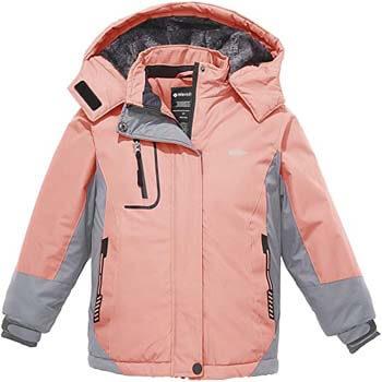 10. Wantdo Girl's Hooded Ski Fleece Jacket Waterproof Winter Coat Raincoats Outwear