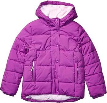 8. Amazon Essentials Girls' Heavy-Weight Hooded Puffer Coat