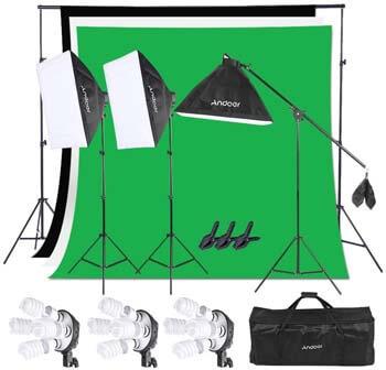 9. Andoer Photography Studio Softbox Lighting Kit
