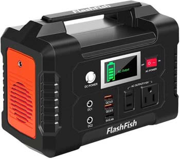 1. FF FlashFish 200W 40800mAh Portable Power Station