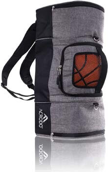 6. Basketball Backpack with Ball Holder, Shoe Compartment, Lunch Cooler - Sports Duffel Bag Gym Tote for Girls, Boys, Men, Women