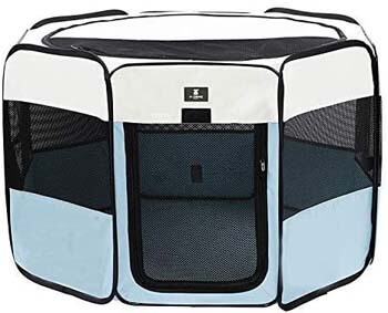 6. X-ZONE PET Portable Foldable Pet Dog Cat Playpen Crates Kennel/Premium 600D Oxford Cloth, Removable Zipper Top, Indoor and Outdoor Use